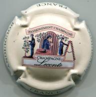 CAPSULE-CHAMPAGNE LECONTE N°01 Crème Petite Lettres Sur Contour - Autres