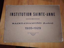 INSTITUTION SAINT-ANNE SAINT-CHAMOND 1928-1929 - Vieux Papiers
