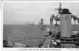 Marine Militaire Francaise  -  'Ligne De File Des Croiseurs'  -   Marius Bar Carte Postale - Oorlog
