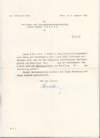 Beförderungs Schreiben Der Post U.Telegraphengesellschaft Wien 1955, Präge-Firmenlogo Der Post - Historische Dokumente