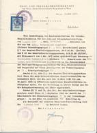 Schreiben Der Post U.Telegraphendirektion Wien 1947, Übernahme Aus Dem Amts-, Verkehrs-und Zeugdienst, 1 S Stempelmarke, - Historische Dokumente