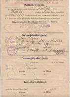 Anfrage-Bogen Der Konskriptionsamts-Abteilung F.d. V. Bezirk 1913, Dokument Gefaltet, Gebrauchsspuren - Historische Dokumente
