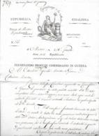 Lettre MASSA AN 7 COMMISSAIRE DE  GUERRE  F.BROCCHI Belle Vignette - Documentos Históricos