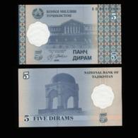 Таджикистан 5 дирам 2000 года  - UNC - Tadzjikistan
