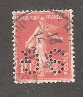 Perforé/perfin/lochung France No 138 SG Société Générale (102) - France