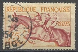 France 1953   J.O. Helsinki Y&T N° 965 Oblitéré (Hippisme) - Frankreich