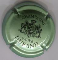CAPSULE-CHAMPAGNE DURAND VEUVE N°07 Vert Pâle Métal & Noir - Durand (Veuve)