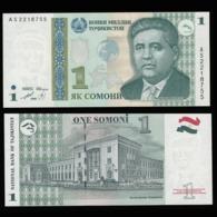Таджикистан 1 самони 1999 (Модификация 2010 года - Темно-зеленый земной шар) - UNC - Tadzjikistan