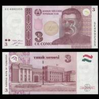 Таджикистан 3 самони  2010 года - UNC - Tadzjikistan