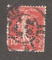 Perforé/perfin/lochung France No 138 S.L. Société Des Lunetiers - France