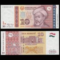 Таджикистан 10 самони 1999 (Модификация 2012 года - С кинеграммой) - UNC - Tadzjikistan