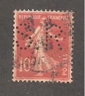 Perforé/perfin/lochung France No 138 S.R Silbert Et Ripert - France