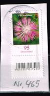 Bund 2019,Michel# 3470R O Blumen: Flockenblume Mit EAN-Code Und Nummer 465 - [7] Federal Republic