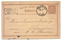 Ganzsache Breslau 1874 Nach Schönfeld, R.B. Breslau - Preussen