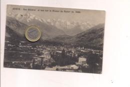 P229 VALLE D'AOSTA AOSTA 1924 Viaggiata 20C MICHETTI ARANCIO ISOLATO FIRMA E DATA X Cssr - Aosta