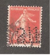 Perforé/perfin/lochung France No 138 STP Sté Makanghia - France