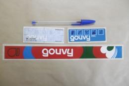 Autocollant Stickers - GOUVY Matériels Outils Agricoles à DIEULOUARD - Lot De 3 Autocollants - Adesivi