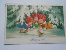 D169338   Champignons à La Tête Des Enfants - Mushroom Headed Children 1929 Combor Zombor - Nouvel An