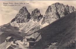 1933- Cartolina Rifugio Flora Passo Sella Gruppo Sassolungo Viaggiata - Bolzano