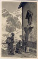 """1933- Cartolina Foto """"alpini Che Depongono Fiori Su Altarino"""" Viaggiata,piccola Riparazione In Basso - Religions & Beliefs"""