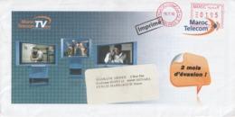 Maroc. Jolie Enveloppe Maroc Telecom Avec Publicité Pour La TV ADSL. Affranchissement Machine. 2010. - Marruecos (1956-...)