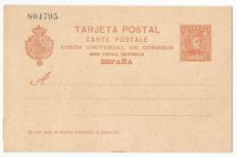 Spain España Postal Stationery Entero Tarjeta Mint 1902 Laiz # 42A - Enteros Postales