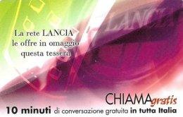 *CHIAMAGRATIS - N.77 - LANCIA* - Scheda Usata (DT) - Italia