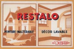 BUVARD Illustré - BLOTTING PAPER - RESTALO - Peinture Inaltérable - Décor Lavable - CH. BYGODT - Saint André - Paints