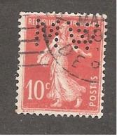 Perforé/perfin/lochung France No 138 WM (127) - France