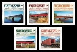Canada 2019 Mih. 3739/43 Historic Covered Bridges (self-adhesive) MNH ** - 1952-.... Règne D'Elizabeth II