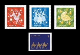 Canada 2019 Mih. 3770/73 Christmas (self-adhesive) MNH ** - 1952-.... Reign Of Elizabeth II