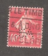 Perfin/perforé/lochung France No 194 A.T. Albert Tronc - France