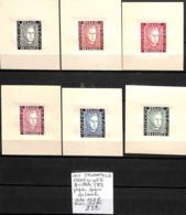 [839234]TB//**/Mnh-c:132e-Belgique 1947 - E52 A/F, En Petits Feuillets (B) Papier épais, Prince Chalres, Familles Royale - Commemorative Labels
