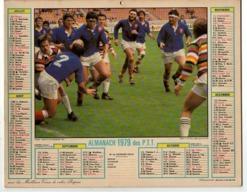 Calendrier Almanach Des P.T.T Avec Photo Rugby Matche Du Président De 1977 - Complet Avec Le Cahier De L'Oise - Calendars