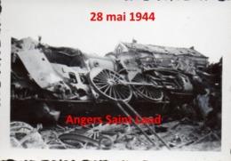 Photographie Guerre Aérienne Angers Gare Saint Laud  Bombardement Mai 1944 - 1939-1945 - 1939-45