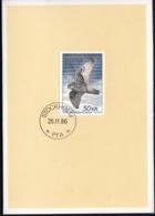 Sweden Stockholm 1986 / Bird Falcon, Gyrfalcon 1981 / Christmas Folder Card - Aquile & Rapaci Diurni