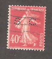 Perfin/perforé/lochung France No 194 SC Société Chimique Des Usines Du Rhône - France