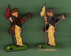 GOLFEUR *** Signe COINDEROUX - CORNER *** Lot De 2 Pin's Differents ***  2010 (122) - Golf