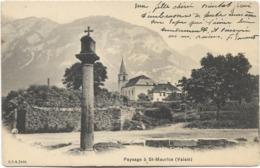 Paysage à St-MAURICE (Valais). CPA Peu Courante Ayant Circulé. - VS Valais