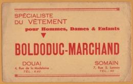 BUVARD - BLOTTING PAPER - BOLDODUC MARCHAND - Spécialiste Du Vêtement - Douai - Somain - Buvards, Protège-cahiers Illustrés
