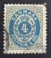 1895-1903 Royal Emblem, 4 Øre, Danmark, Denmark, Danemark, *, ** Or Used - Usati