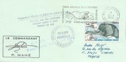 """TAAF - Port Aux Français-Kerguelen: Lettre """"Marion-Dufresne"""" Avec Timbre N°78 Cormoran + OMEC SECAP Du 12/04/1979 - Storia Postale"""