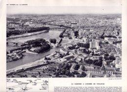 Gravure 30 X 24  - La Garonne à L'entrée De TOULOUSE - Pont Saint Michel - Unclassified