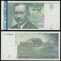 Эстония 25 крон 2007 (Модификация 2008 года) - UNC - Estland