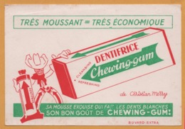 BUVARD Illustré - BLOTTING PAPER - Dentifrice CHEWING GUM De Christian Merry - Carte Assorbenti