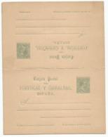 Spain España Double Postal Stationery With Reply Entero Tarjeta Doble Ida Y Respueta Mint 1890 Laiz # 26 - Enteros Postales