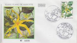 Enveloppe  FDC  1er Jour    MAYOTTE   Fleur  D' Ylang  Ylang     MAMOUDZOU   1997 - Mayotte (1892-2011)
