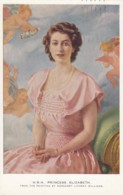 Princess Elizabeth Wedding To Philip Mountbatten, Painting By Margaret Lindsay Williams C1940s Vintage Postcard - Royal Families