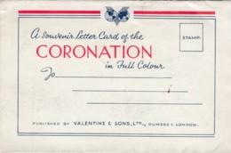 Queen Elizabeth II Coronation Souvenir Letter Card C1950s Vintage Postcard - Familles Royales