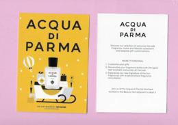 Carte Postale (AQUA DI PARMA ) - Duftkarten